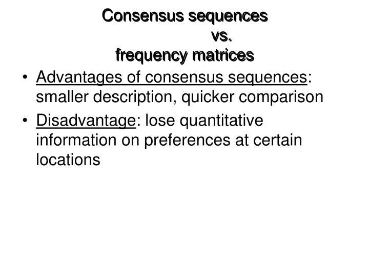 Consensus sequences