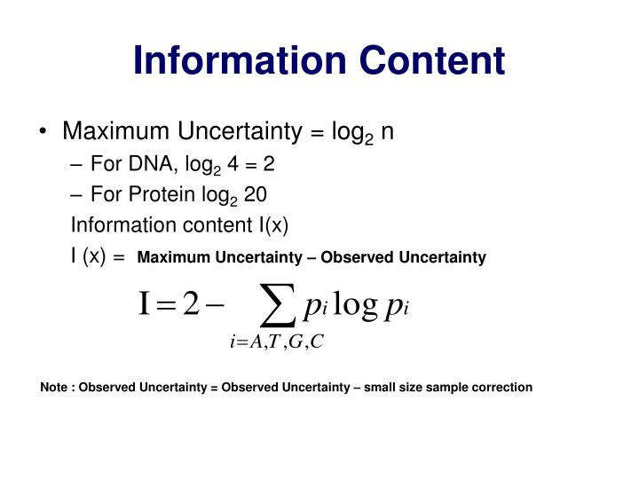 Information Content