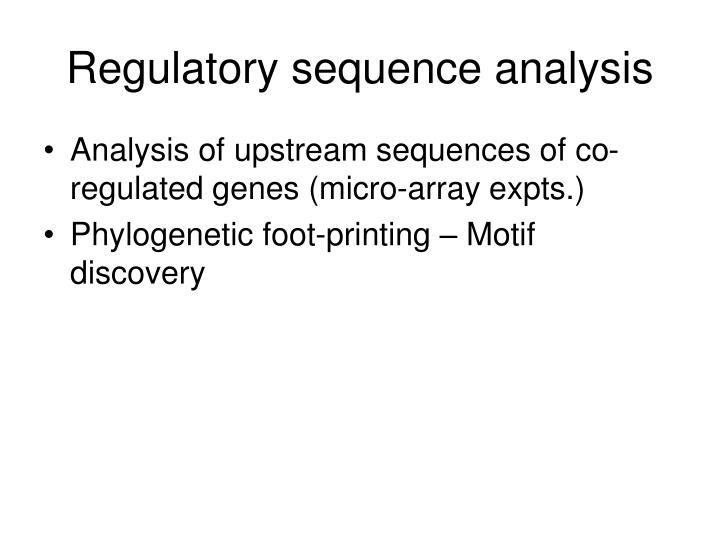 Regulatory sequence analysis
