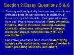 section 2 essay questions 5 6