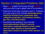 section 2 integrated problems 2 3