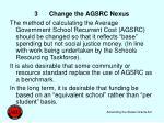 3 change the agsrc nexus