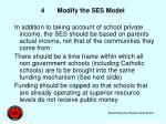 4 modify the ses model