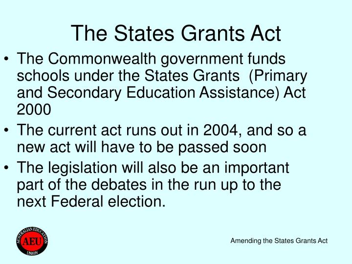The states grants act
