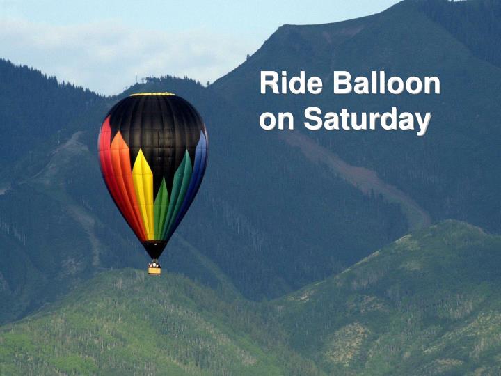 Ride Balloon