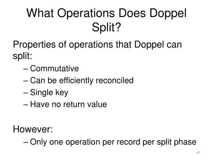 What Operations Does