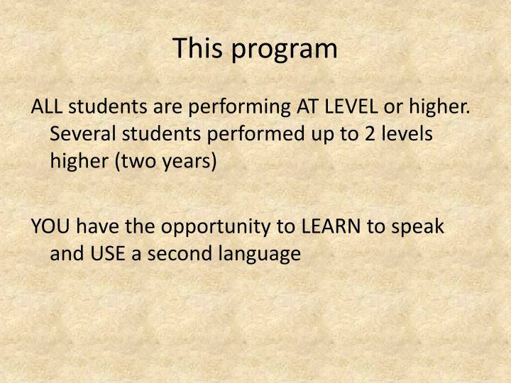 This program