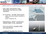 alpha ventus a lighthouse project for northwest wind cluster