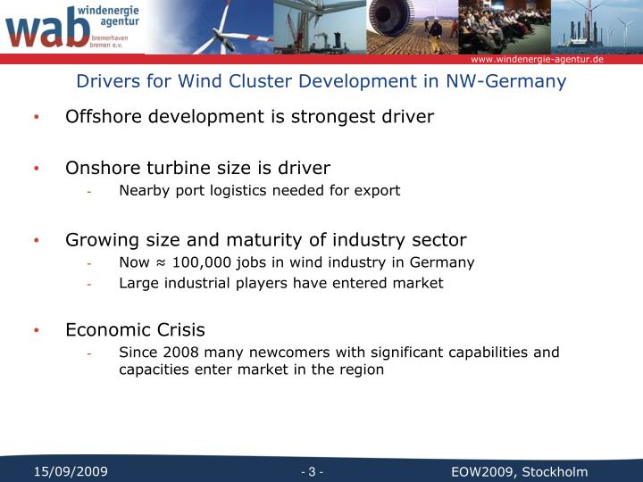 Drivers for wind cluster development in nw germany