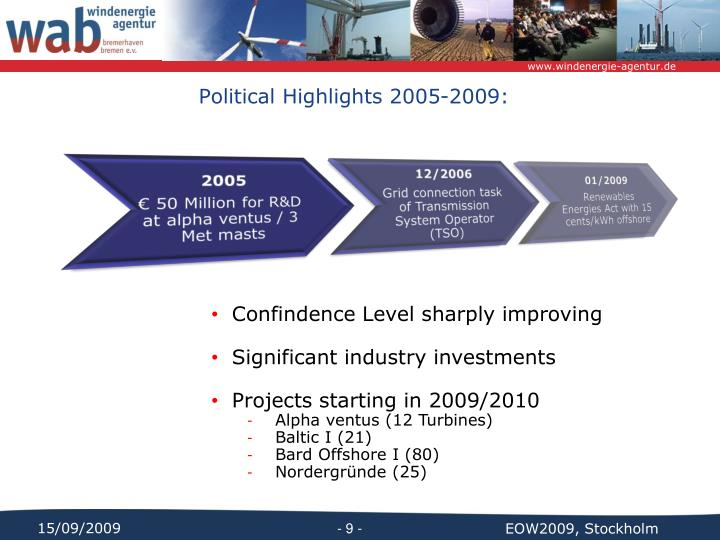 Political Highlights 2005-2009:
