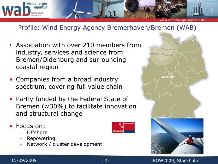 Profile wind energy agency bremerhaven bremen wab