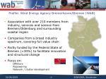 profile wind energy agency bremerhaven bremen wab