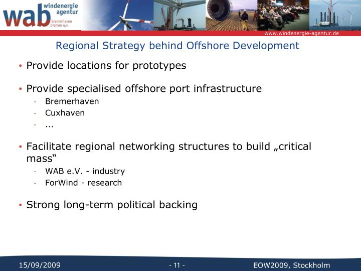 Regional Strategy behind Offshore Development