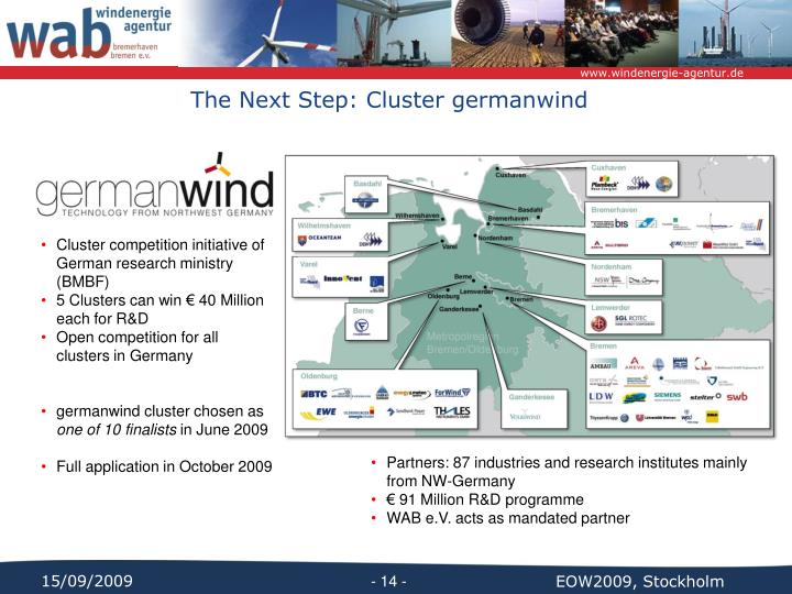 The Next Step: Cluster germanwind
