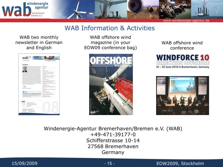 WAB Information & Activities