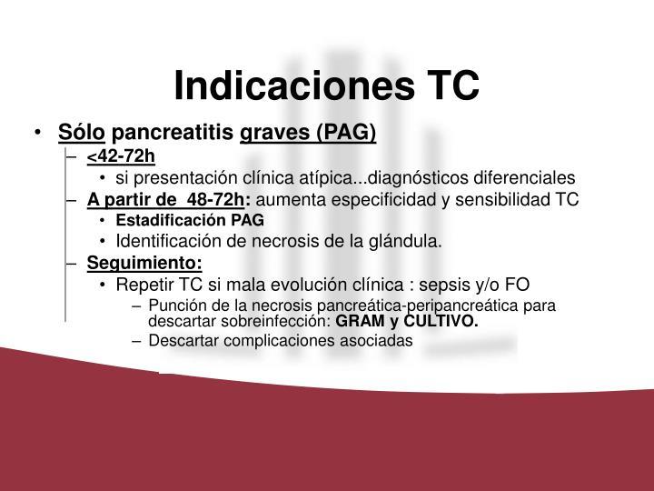 Indicaciones TC