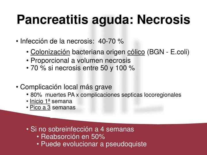 Pancreatitis aguda: Necrosis