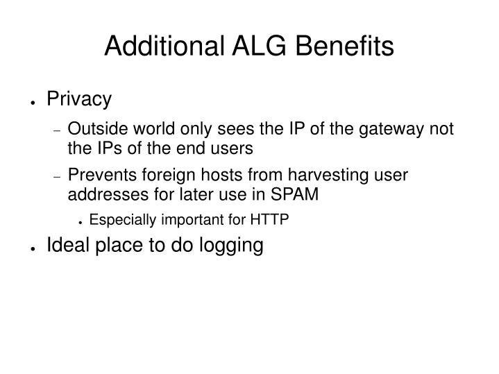 Additional ALG Benefits