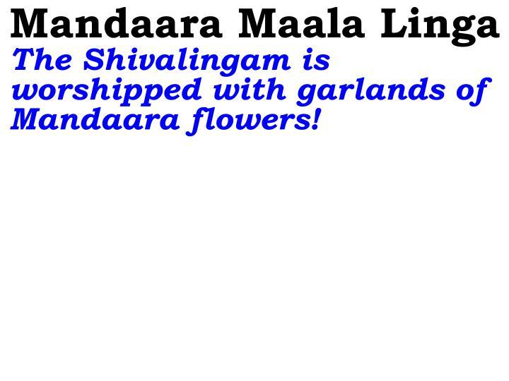 Mandaara Maala Linga