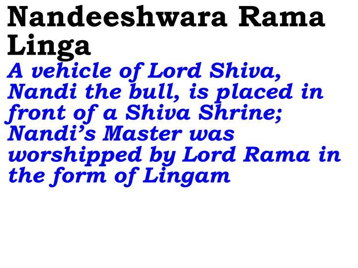 Nandeeshwara Rama Linga