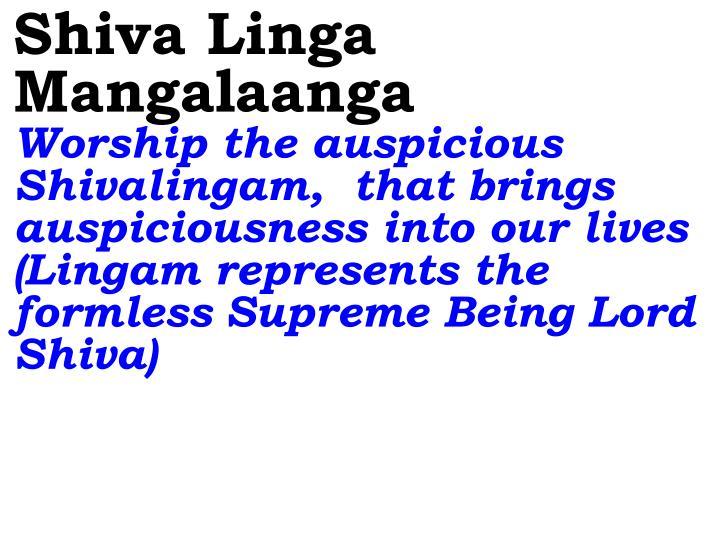 Shiva Linga Mangalaanga