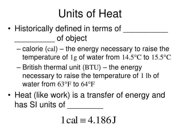 Units of Heat