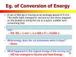 eg of conversion of energy