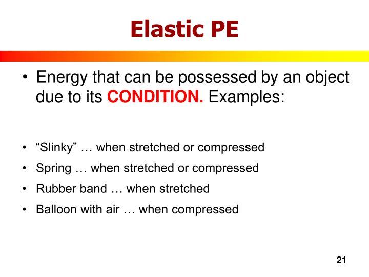 Elastic PE
