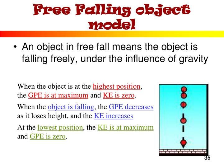 Free Falling object model