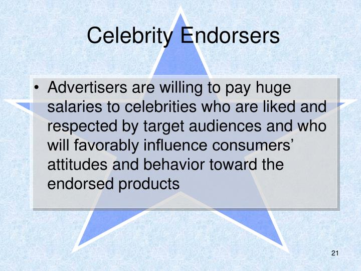 Celebrity Endorsers