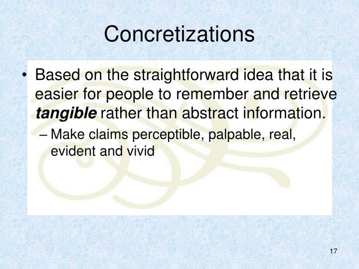 Concretizations