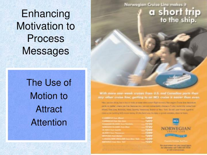 Enhancing Motivation to Process Messages