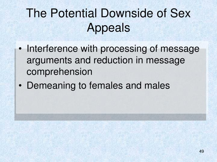 The Potential Downside of Sex Appeals
