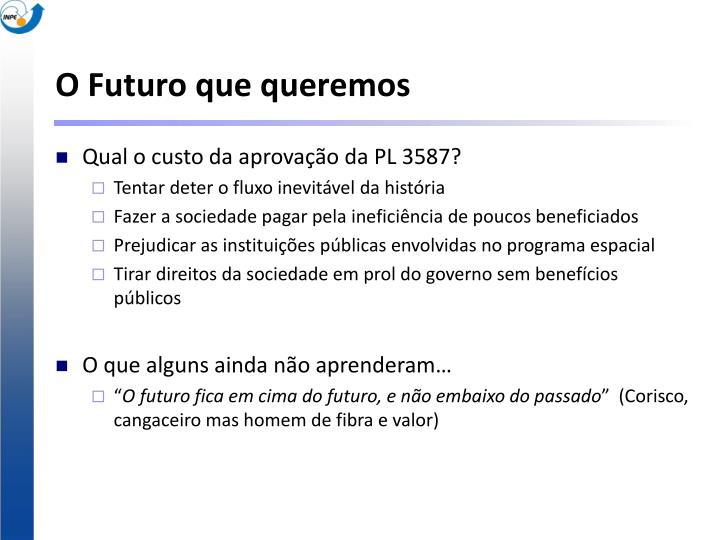 O Futuro que queremos