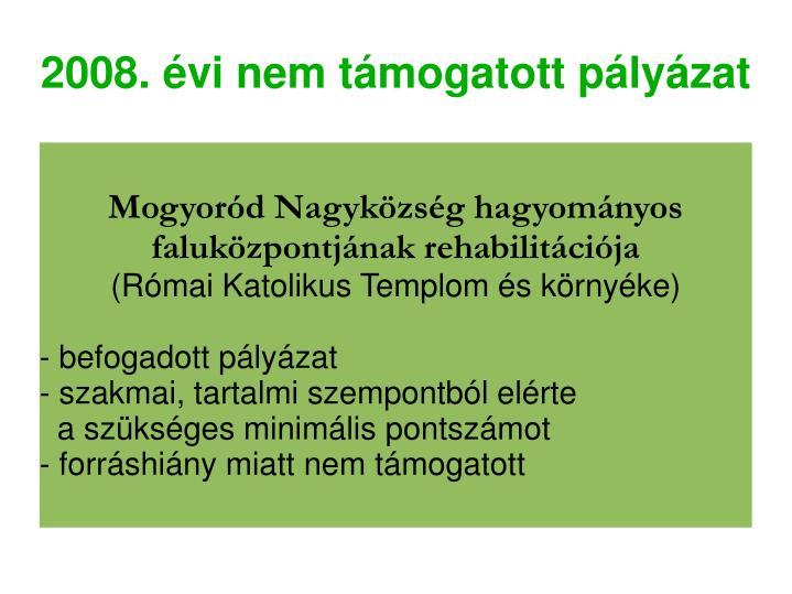 Mogyoród Nagyközség hagyományos faluközpontjának rehabilitációja