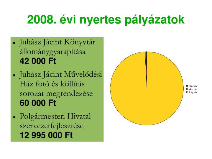 2008. évi nyertes pályázatok