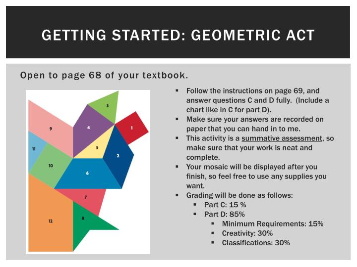 Getting started geometric act