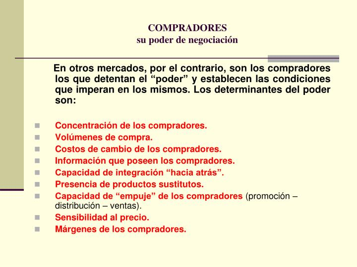 COMPRADORES