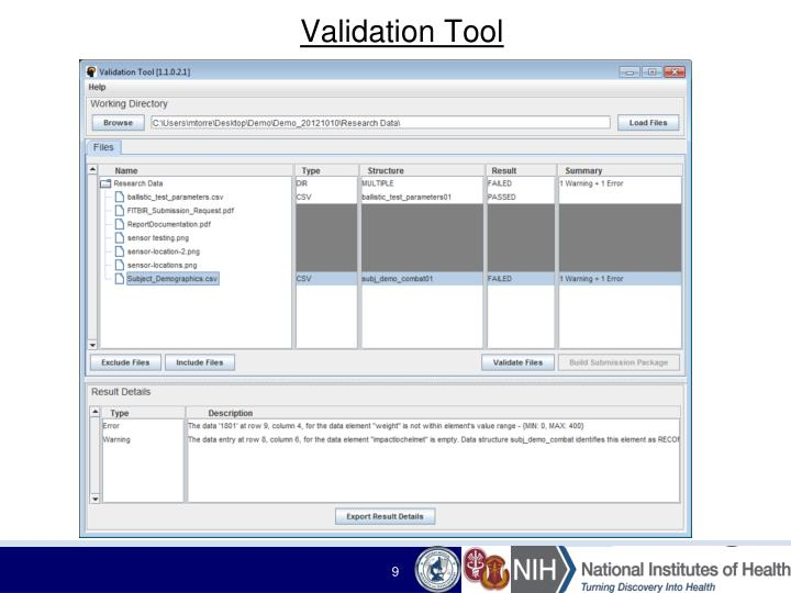 Validation Tool