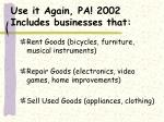 use it again pa 2002 includes businesses that