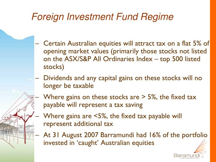 Foreign Investment Fund Regime