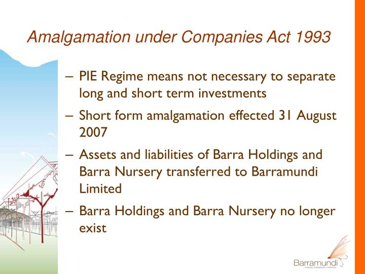 Amalgamation under Companies Act 1993