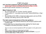 cms schedule