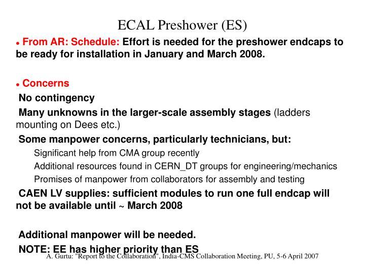 ECAL Preshower (ES)