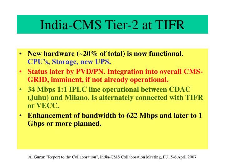 India-CMS Tier-2 at TIFR