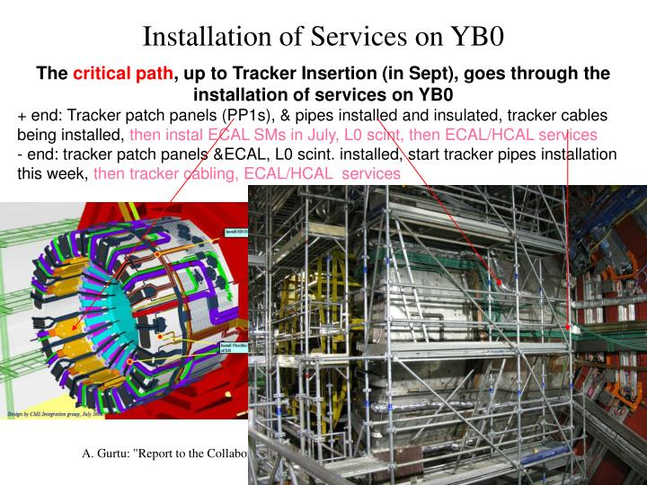 Installation of Services on YB0
