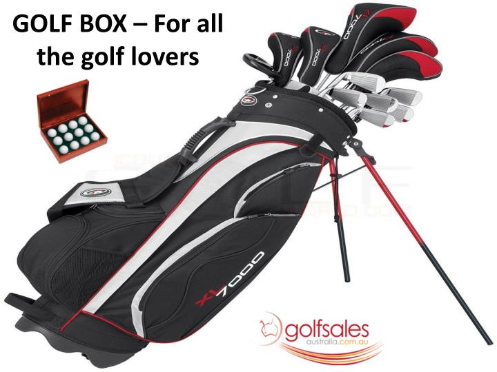 Golf box for all the golf lovers