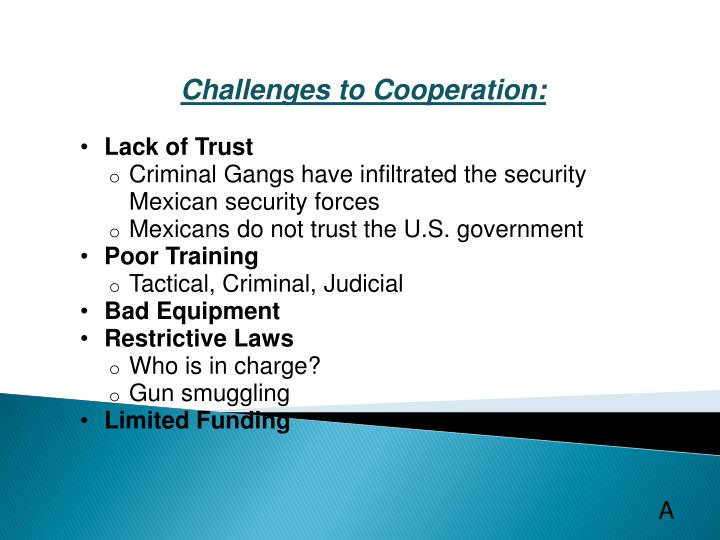 Challenges to Cooperation: