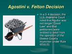 agostini v felton decision