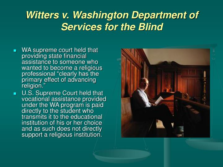 Witters v. Washington Department of Services for the Blind
